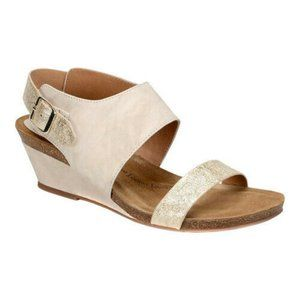 Sofft Womens Vanita Leather Open Toe Casual Slingb